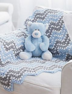 Ripple Waves Crochet Blanket by Bernat Design Studio. Free pattern