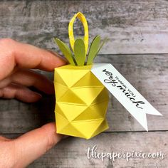 Pineapple Treat Box with Video Tutorial - The Paper Pixie
