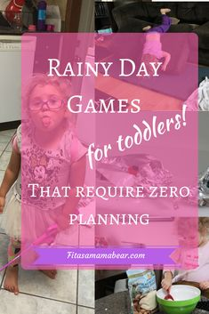 Rainy day activities for toddlers- a great way to play, interact and learn with toddlers when you're stuck inside. No money or preparation required Rainy Day Games, Rainy Day Activities, Outdoor Activities For Kids, Infant Activities, Interactive Games For Toddlers, Things To Do Inside, Inside Games, Parenting Styles, Parenting Tips