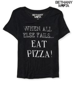 Eat Pizza Crop Graphic T - Aeropostale  NEEEEEEED