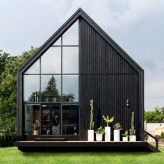 Modern Barn House, Modern House Plans, Scandinavian Architecture, Modern Architecture, Scandinavian House, Black House Exterior, Construction, House Design, Dream Homes