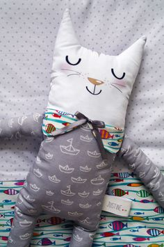 Un air marin... - Petit chat et sa couverture Cat and blanket