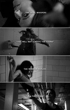 Shaw: I am the storm. #poi
