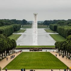 Olafur Eliasson has taken over the Palace of Versailles. Here you can see his Waterfall from 2016