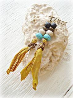 Boho Earrings  Boho Jewelry  Hippie Earrings  by HandcraftedYoga, $24.00