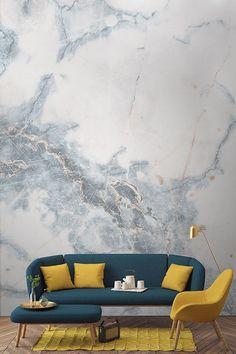 Besessen über Marmor? Sie finden unsere faux Marmor Tapetenentwürfe lieben! Sie sind ideal, um einen Hauch von Luxus und Glamour zu Ihrem Haus hinzuzufügen.