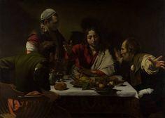 """La Cena de Emaus. Michelangelo Merisi, """"il Caravaggio"""", 1601. National Gallery, Londres. Reino Unido."""