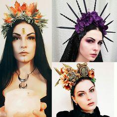 Pagan Fashion, Mori Fashion, Triple Goddess, Moon Goddess, Victorian Gothic, Gothic Lolita, Wiccan, Magick, Headdress