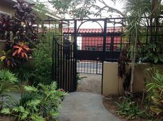 The gate to our Ciudad Colon casita. In looking out to the street, March 1, 2013.