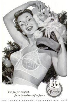 Vintage Lingerie Christmas Lingerie Ad by Formfit Lingerie Vintage, Vintage Girdle, Vintage Bra, Pin Up Girl Vintage, Classic Lingerie, Vintage Underwear, Mode Vintage, Bra Lingerie, Ropa Interior Vintage
