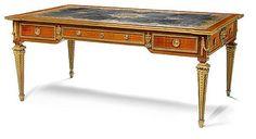 A good quality Louis XVI style gilt bronze mounted inlaid ma