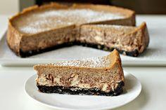 Milk and Honey: New York-Style Mocha Hazelnut Cheesecake