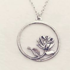New Rose Silver chain necklace.❤️ New beautiful rose chain silver necklace. Makes a great gift. Cute to wear out. Bundle and save. Thank you.  Rose Jewelry Necklaces