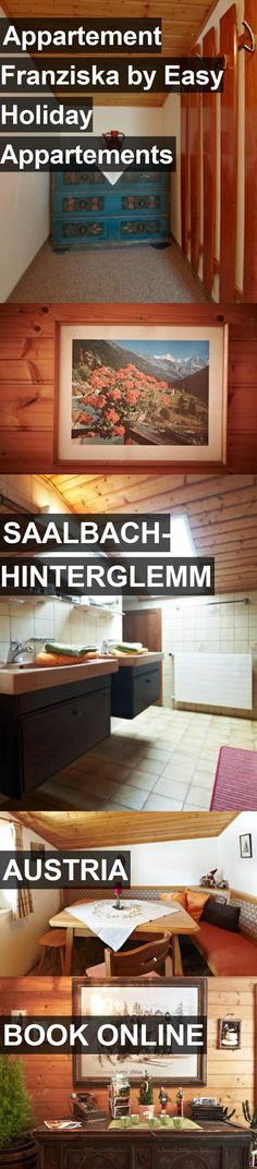 Hotel Appartement Franziska by Easy Holiday Appartements in Saalbach-Hinterglemm, Austria. For more information, photos, reviews and best prices please follow the link. #Austria #Saalbach-Hinterglemm #travel #vacation #hotel