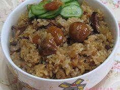 【大同電鍋料理】麻油香菇栗子油飯