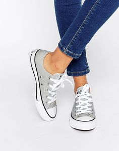 MY FAVE! A little Easter TREAT for me... Converse Chuck Taylor Mouse Grey Ox Trainers