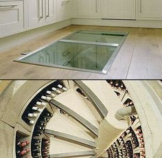 World's Coolest Wine Cellar is Hidden Beneath Kitchen Floor - TechEBlog