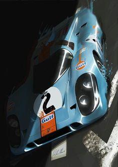Gulf-Porsche 917K Le Mans