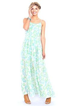 The Sugarlips Palm Springs Dress is a leaf printed tank maxi dress with a slit in the front. Cutout detail on back.  Price : $66.00 #MyLuluCloset #Sugarlips #NewArrivals