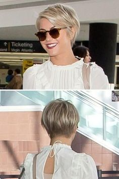 Julianne Hough's pixie cut makes me want to go back to short hair again.