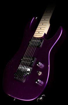 B.C. Rich USA Handcrafted Gunslinger Electric Guitar Distressed Metallic Purple
