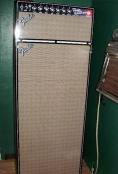 """Check out this """"amp-fridge"""" from one of our fans, Eddie. +1 if you need this in your life.  #FenderArt #FenderTwin"""