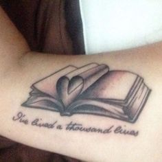 45 Charming Book Tattoo Designs Ideas For Bookworms - VIs-Wed Couple Tattoos, Love Tattoos, Unique Tattoos, Body Art Tattoos, Small Tattoos, Tatoos, Awesome Tattoos, Beautiful Tattoos, Tattoos For Lovers