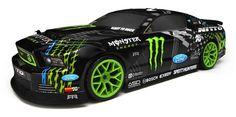 111664 Hpi E10 2013 Mustang Drift Monster Energy rtr Ets Hobby Shop