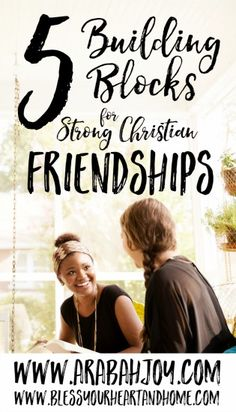 Do you wonder if you've been doing friendship all wrong? Here are 5 building blocks for strong, Christian friendships. Good study to do with your KJV Bible ☺️ Christian Women, Christian Faith, Christian Quotes, Christian Living, Christian Friendship Quotes, Christian Singles, Neil Armstrong, Christian Relationships, Christian Encouragement