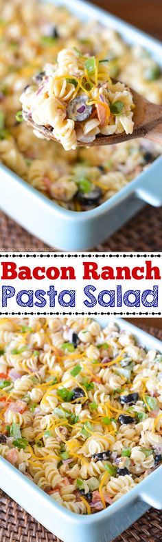 Bacon Ranch Pasta Salad recipe. need to try this!