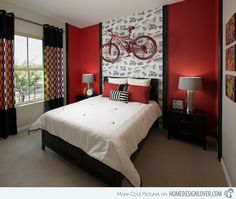 15 Pleasant Black, White and Red Bedroom Ideas