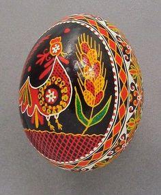 Pysanka, Real Ukrainian Easter Egg, Hen Shell, N35