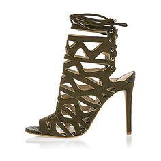 Chaussure A Talon Kaki