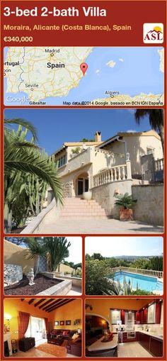 3-bed 2-bath Villa in Moraira, Alicante (Costa Blanca), Spain ►€340,000 #PropertyForSaleInSpain