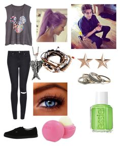 """Untitled #267"" by louistheommotomlinson ❤ liked on Polyvore featuring Topshop, Vans, Eos, Essie, Pull&Bear, With Love From CA and Reeds Jewelers"