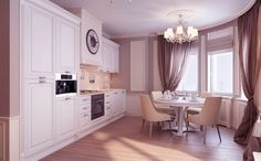 Home with Traditional Visualized: Neutral traditional kitchen diner Idea – Home Design Interior And Inspirations Apartment Interior Design, Interior Design Kitchen, Kitchen Themes, Kitchen Decor, Kitchen Dining, Home Furniture, Furniture Design, French Furniture, Traditional Kitchen