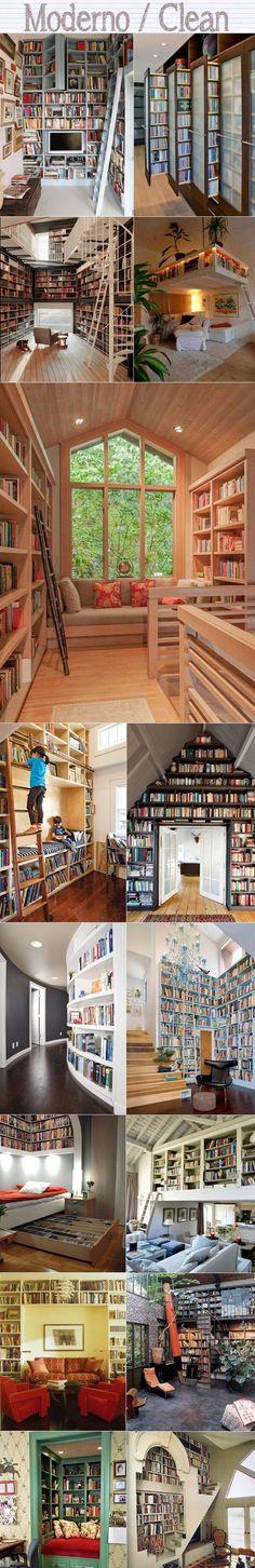 bibliotecas clean modernas                                                                                                                                                      Mais