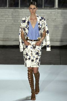 The Gladiator boots are amazing and the look also grown up from Altuzarra, and black & white floral prints in a suit..