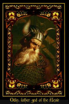 Odin is a god of war and death, but also the god of poetry and wisdom. He hung for nine days, pierced by his own spear, on the world tree. Here he learned nine powerful songs, and eighteen runes. Odin can make life of Odin Viking Art, Viking Warrior, Viking Woman, Norse Pagan, Norse Mythology, Norse Vikings, Asatru, Ancient Civilizations, Gods And Goddesses