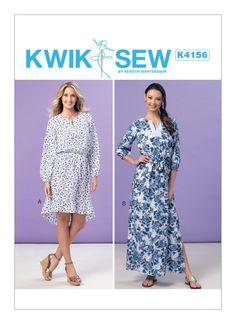 Pattern: Kwik Sew K4156 peasant dress, ruffled skirt, maxi, blouson
