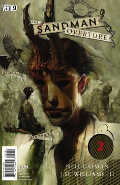 Check out an exclusive first look at the 'Sandman: Overture' variants by J. Williams III and original 'Sandman' cover artist Dave McKean. Dave Mckean, Neil Gaiman, Art Et Illustration, Illustrations, Morpheus Sandman, Comic Book Artists, Comic Books, Shakespeare Midsummer Night's Dream, Vertigo Comics