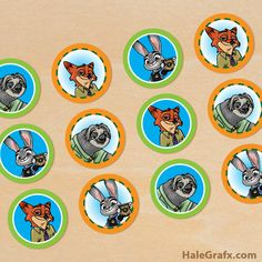 FREE printable Zootopia cupcake toppers