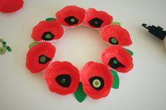 Remembrance Day Poppy Wreath - Mama.Papa.Bubba.