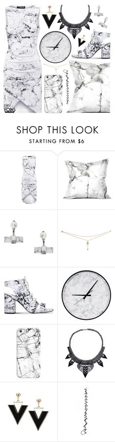 """Yoins"" by pastelneon ❤ liked on Polyvore featuring Humble Chic, Senso, Casetify, Rock 'N Rose, blackandwhite, Trendy, marble and yoins"