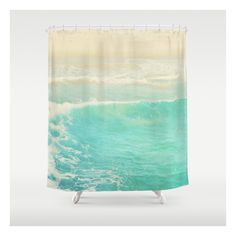 Beach Ocean Wave. Surge. Hermosa Beach Photograph Shower Curtain (4.395 RUB) ❤ liked on Polyvore featuring home, bed & bath, bath, shower curtains and beach shower curtains