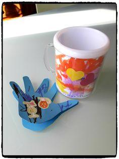 cadeau d'anniversaire, mug à décorer, carte main, fete des peres, fete des mères, bricolage enfant