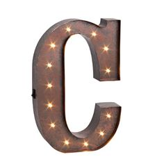 Found it at Wayfair Supply - LED Lighted Metal Letter