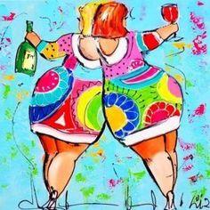 New Arrival Hot Sale Colorful Fat Woman Diy Diamond Painting Kits Diamonds Tattoo, Cartoon Cow, Wine Logo, Photo Pattern, Woman Wine, Cross Paintings, Creative Activities, Diy Painting, Stone Painting