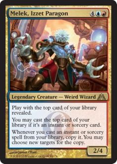 Budget RED BLUE IZZET Magic the Gathering card theme deck.  75 total cards -- 60 cards with 15 card sideboard, including lands and mana sources.