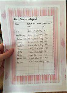 Leker til babyshower - babybingo, babyshower quiz, svarark og mer.